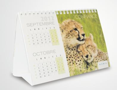 Design graphique et impression - edition calendrier professionnel